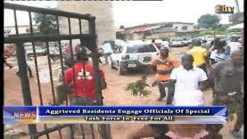 Aggrieved residents engage officials of Special Task Force in free for all