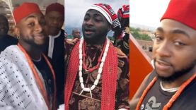 You Won't Believe What Davido Did After His Chieftaincy Title