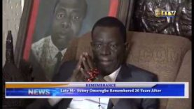 Late Mr. Sunny Omorogbe remembered 20 years after