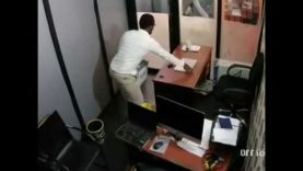 Guest Caught On Camera STEALING MacBook PRO At City FM Lagos