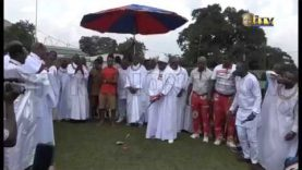 Oba of Benin performs ceremonial Tee Off to end NAFEST 2019