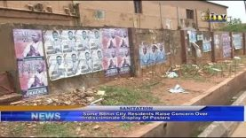 Benin residents raise concern over indiscriminate display of posters