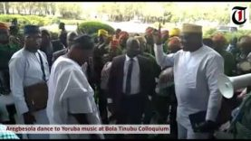Watch ex-governor Rauf Aregbesola dance to Yoruba music at Bola Tinubu Colloquium